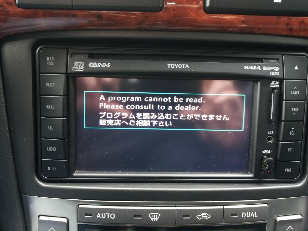 toyota tns510 firmware update